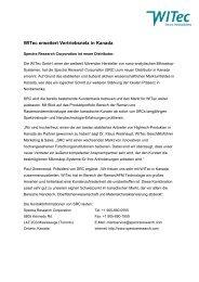 WITec erweitert Vertriebsnetz in Kanada