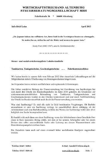 Tankgutscheine-Fahrtkostenzuschüsse - Wirtschaftstreuhand ...