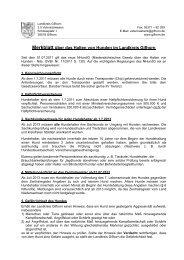 Merkblatt über das Halten von Hunden im ... - Stadt Wittingen