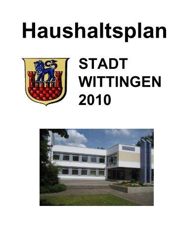 Haushaltsplan 2010 - Stadt Wittingen