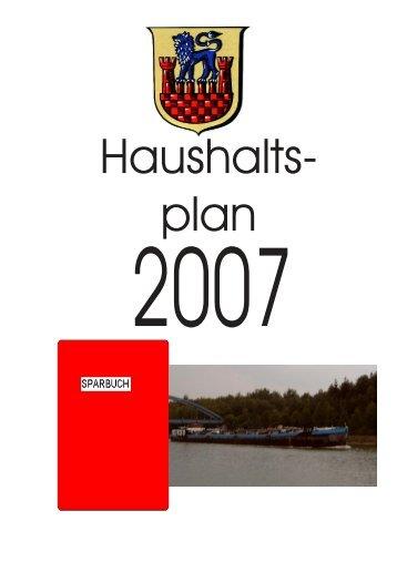 Haushaltsplan 2007 (1.5MB) - Stadt Wittingen