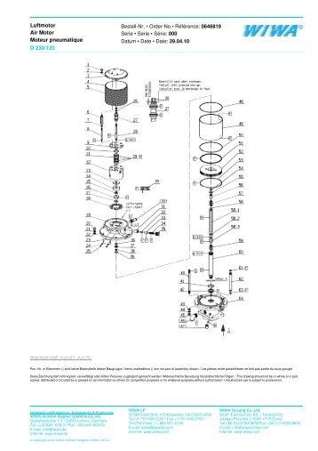 Luftmotor Bestell-Nr. •  Order-No.• Référence: 0646819 Air Motor ...