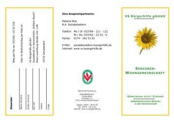 VS Bürgerhilfe gGmbH - WiWO Wildauer Wohnungsbaugesellschaft