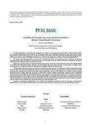 WL BANK AG Westfälische Landschaft Bodenkreditbank