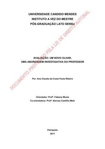 Ana Claudia da Costa Paula Ribeiro - AVM Faculdade Integrada