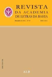 revista - Academia de Letras da Bahia