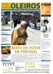 BENTO XVI ESTEVE EM PORTUGAL - Jornal de Oleiros