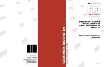 caderno direito 18.pdf - FGV DIREITO GV - Fundação Getulio Vargas