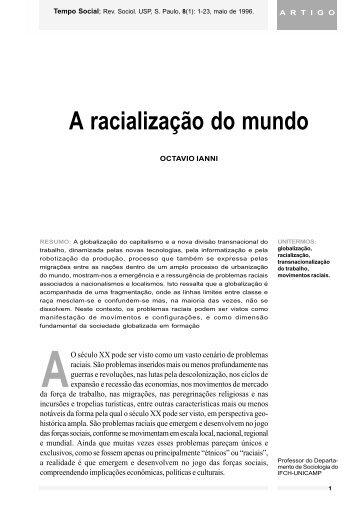 A racialização do mundo. - fflch - USP