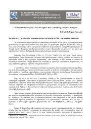 Ensaio sobre reprodução e crise do capital: Rosa Luxemburg e a ...