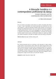 A Educação Somática e 0 contemporâneo profissional da ... - CEART