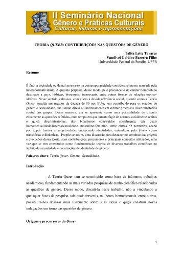 Teoria Queer: contribuições nas questões de gênero - Itaporanga.net