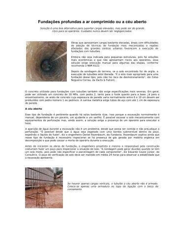 Fundações profundas a ar comprimido ou a céu aberto - PCC 2435