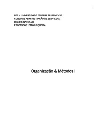 Organização & Métodos I - UFF