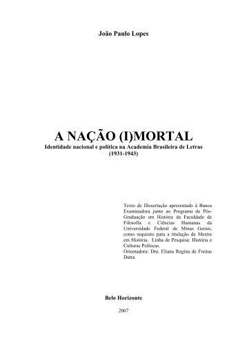 (i)mortal - Biblioteca Digital de Teses e Dissertações da UFMG