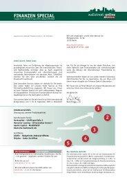 1 2 3 4 5 FINANZEN SPECIAL - Wallstreet:online Capital AG