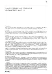 Condizioni generali di vendita della Wöhner Italia srl