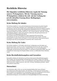 Rechtliche Hinweise - Woellner.de