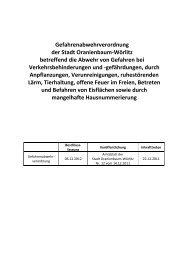 Gefahrenabwehrverordnung der Stadt ... - Wörlitzer Winkel