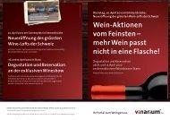 Wein-Aktionen vom Feinsten - Schaller VINarium