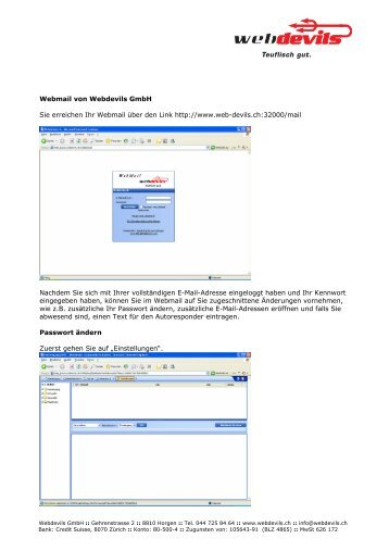 Webmail von Webdevils GmbH Sie erreichen Ihr Webmail über den ...