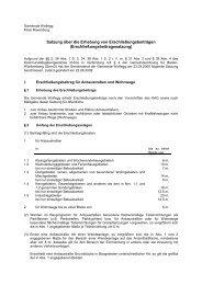 Satzung über die Erhebung von Erschließungsbeiträgen - Wolfegg
