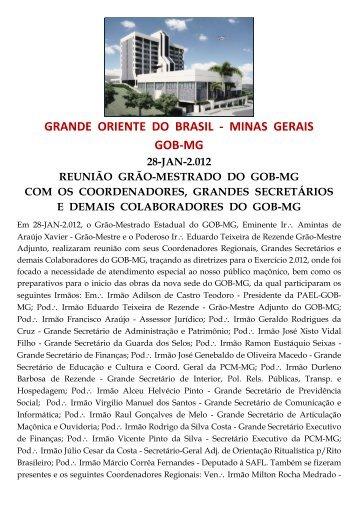 grande oriente do brasil - minas gerais gob-mg - Smisa.com.br