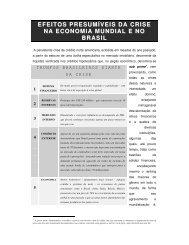 efeitos presumíveis da crise na economia mundial e no brasil