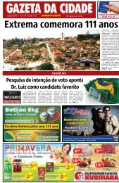 Extrema comemora 111 anos - Gazeta da Cidade