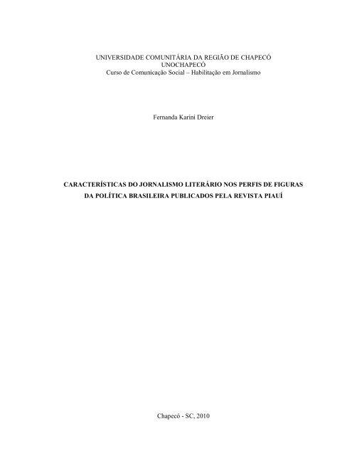 Baixar Documento Chapeco Unochapeco