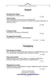 Suppen Vorspeisen Hauptgang - Wirtshaus zum Unterlachenhof