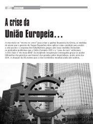 ATUALIDADE A crise da União Europeia…