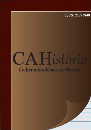 9 - CAHistória – Caderno Acadêmico de História