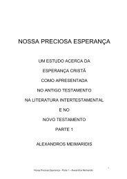 NOSSA PRECIOSA ESPERANÇA Parte 1 - JesusSite