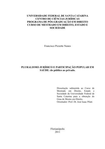 Pluralismo jurídico e participação popular em saúde