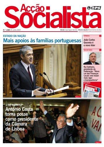 Mais apoios às famílias portuguesas - Acção Socialista