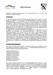 Markterkundungs- und Auswahlverfahren - Markt Wonsees