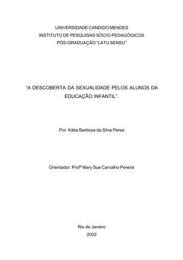 """""""a descoberta da sexualidade pelos alunos da educação infantil""""."""