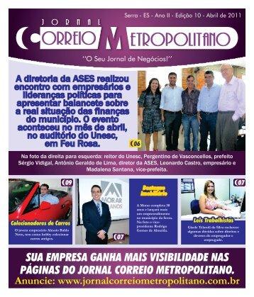 Edição Abril - Jornal Correio Metropolitano