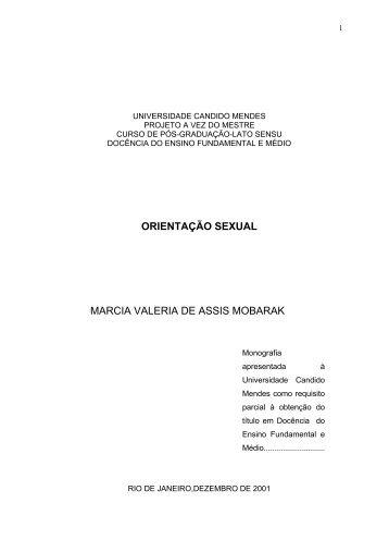 ORIENTAÇÃO SEXUAL MARCIA VALERIA DE ASSIS MOBARAK