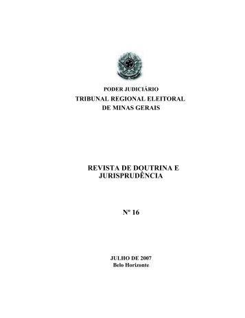 revista de doutrina e jurisprudência nº 16 - Tribunal Regional ...