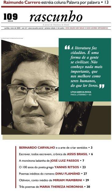 Edição 109 - Jornal Rascunho