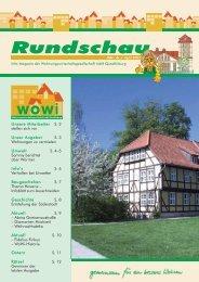Wowi-Rundschau Nr. 6 - Wohnungswirtschaftsgesellschaft mbH ...