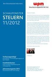 Mandantenbrief 11 2012 - WPM Steuerberatungsgesellschaft mbH