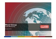 Capital Markets Day Presentation (3.46MB) - Wood Group