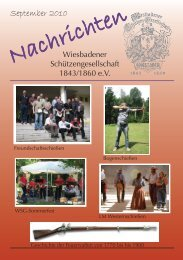 Ausgabe September 2010 - Wiesbadener Schützengesellschaft ...
