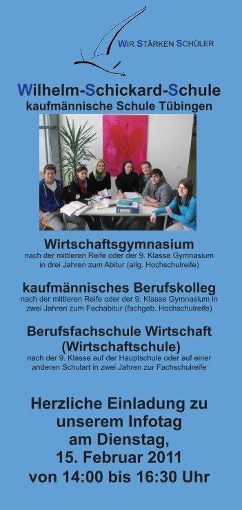 Wilhelm-Schickard-Schule Herzliche Einladung zu unserem Infotag ...