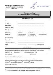 Aufnahmeantrag Kaufmännisches Berufskolleg II - Wilhelm ...