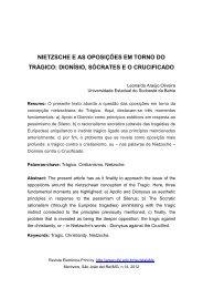 Nietzsche e as Oposições em torno do Trágico - UFSJ