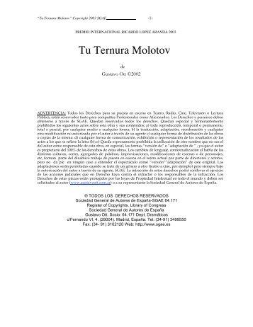 Tu Ternura Molotov - Gustavo Ott